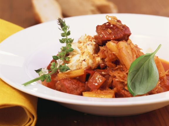 Goulash with Sauerkraut