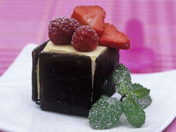 Ice-cream Squares with Berries