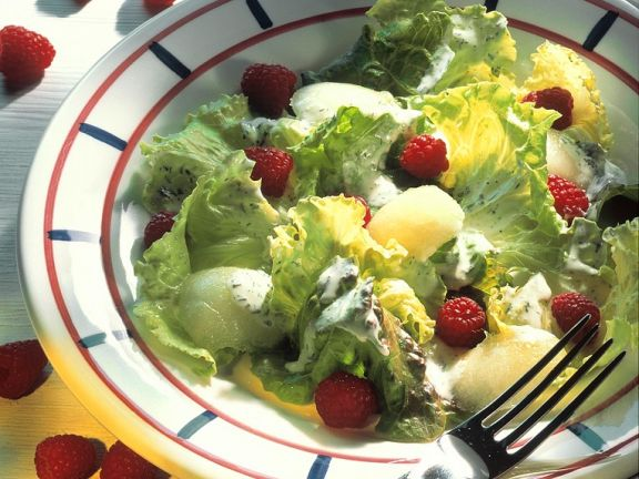 Iceberg Lettuce with Fruit and Herb Dressing