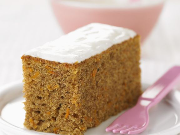 Iced Carrot Sponge Slice