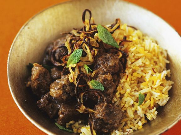 Indian Spiced Beef with Rice