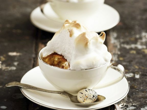 Individual Bread and Butter Meringue Puddings