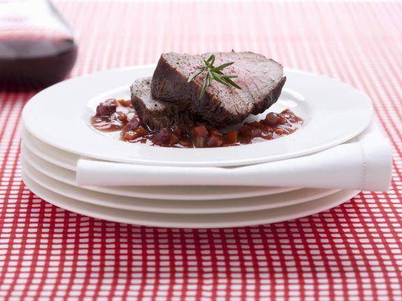 Italian Roast Beef with Red Wine Sauce