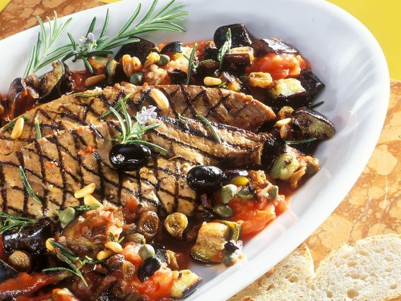Italian-style Liver with Eggplant