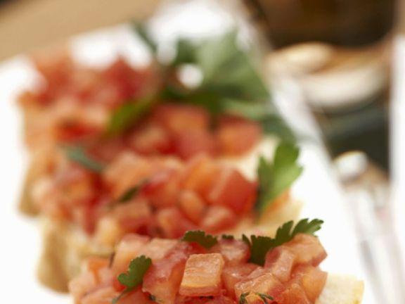 Italian Tomato Salad on Toast