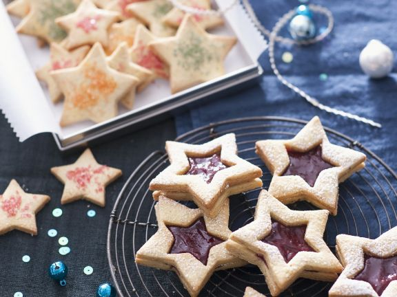 Jam Filled Star Cookies