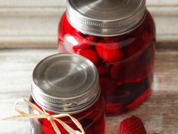 Jars of Sweet Raspberries