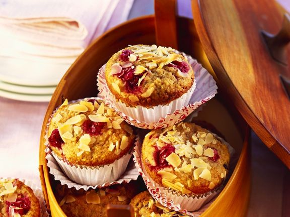 Kamut Cranberry Muffins with Almonds