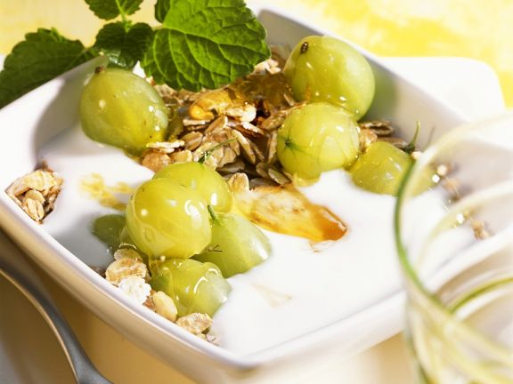 Kefir Yogurt with Gooseberries