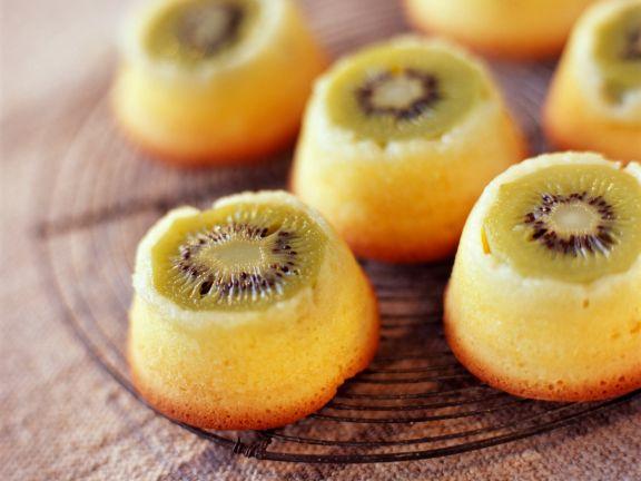 Kiwi Upside Down Cakes
