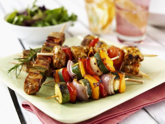 Lamb and Vegetable Skewers