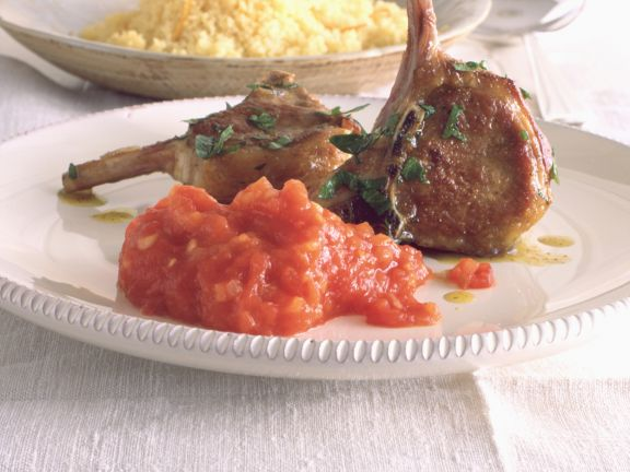 Lamb Chops with Spicy Tomato Puree