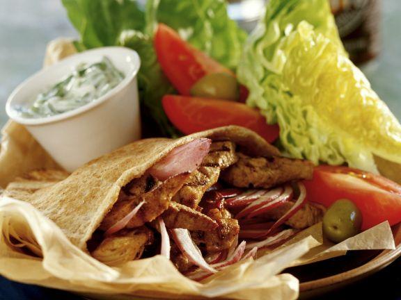 Lamb Pita with Tzatziki Sauce