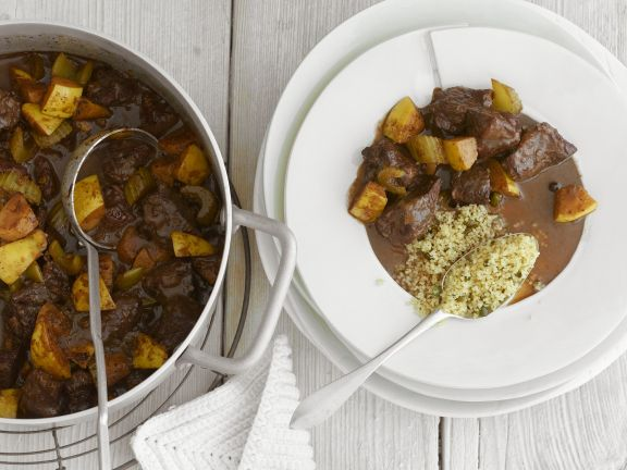 Lamb Quince Stew with Couscous