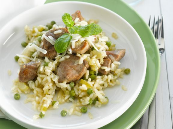 Lamb Risotto with Peas