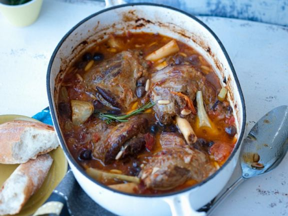Lamb Shanks with Olives and Artichokes
