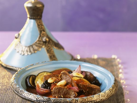 Lamb Tagine with Eggplant and Almonds