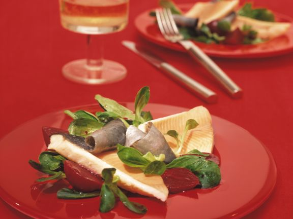 Lamb's Lettuce with Trout and Beets