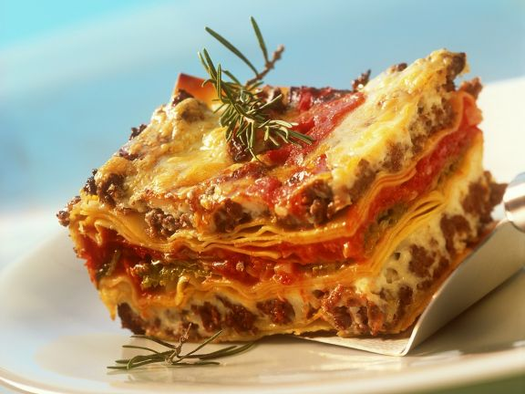 Lasagne with Lamb and Vegetables