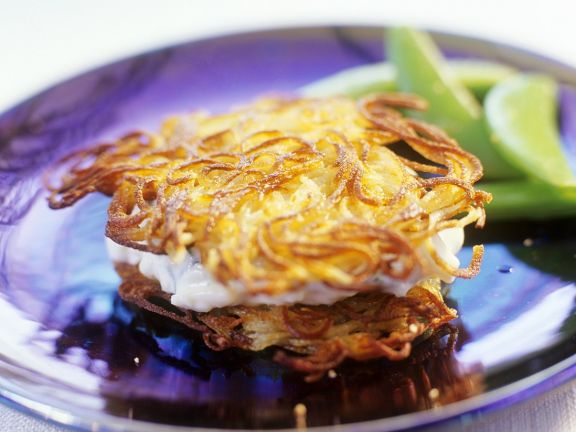 Latkes with Cottage Cheese