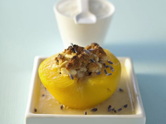 Lavender and Almond Baked Peaches