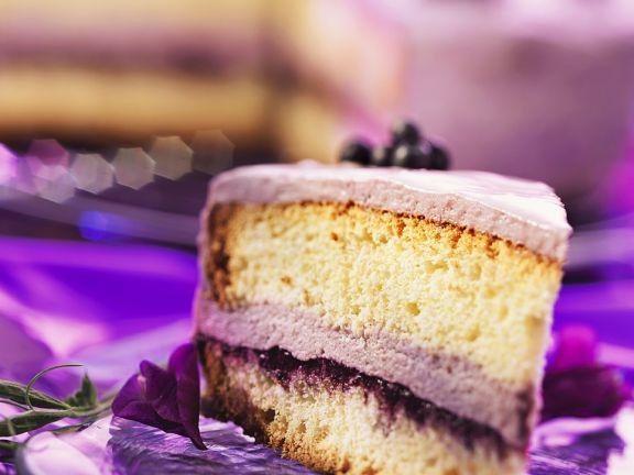 Layer Cake with Blueberry and Mascarpone Cream