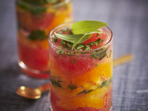 Layered Citrus Fruit Glasses