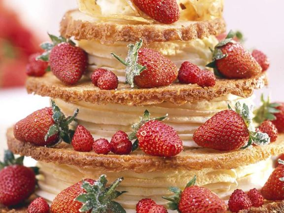 Layered Gateau with Chocolate Mousse