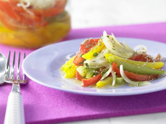 Layered Pepper Salad with Sesame