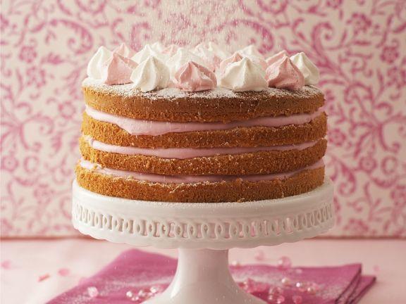 Layered Raspberry Cream Cake