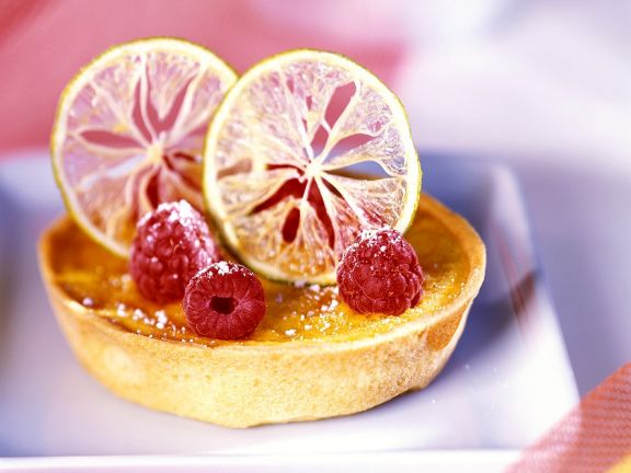 Lemon and Raspberry Tarts