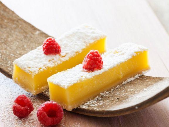 Lemon Bars with Raspberries