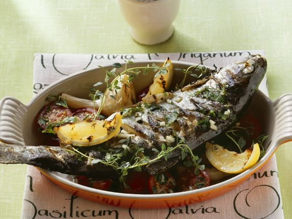Lemon Trout with Herbs and Garlic