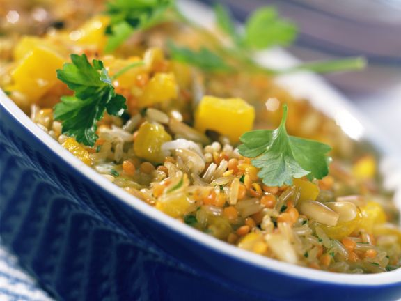 Lentil and Rice Casserole