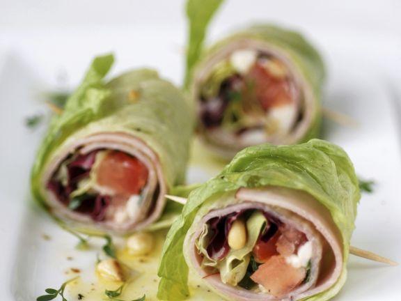 Lettuce and Ham Wraps