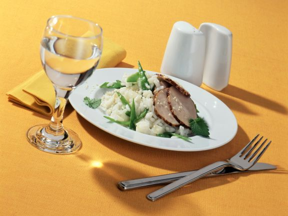 Lime Risotto with Pork