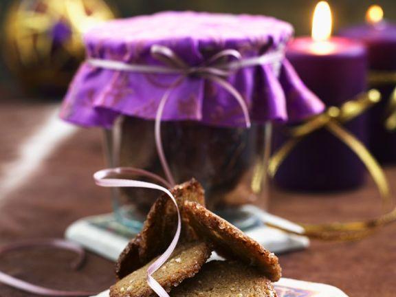 Liquorice and Hazelnut Biscuits