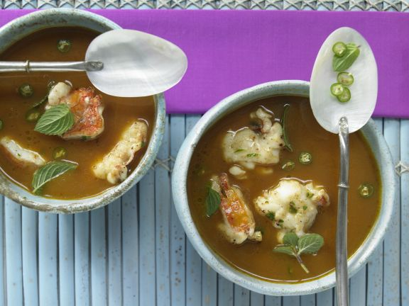 Lobster and Coconut Soup