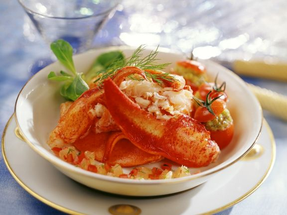 Tomatoes with Seafood Filling