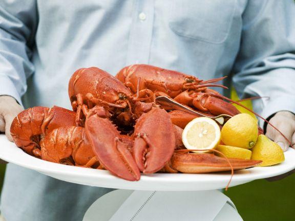 Lobster with Lemon Slices