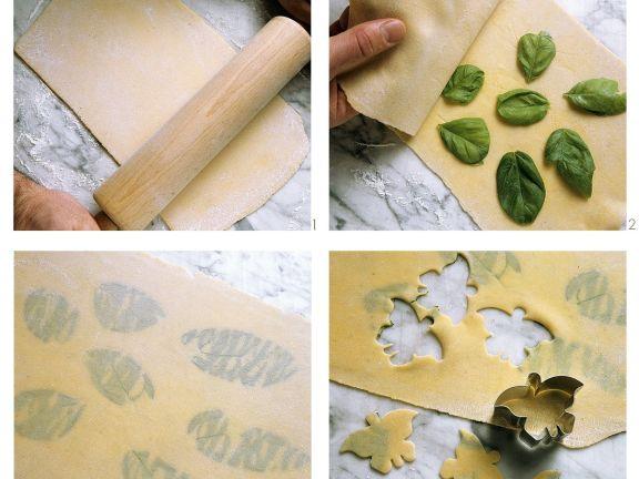 Making Pasta with Basil