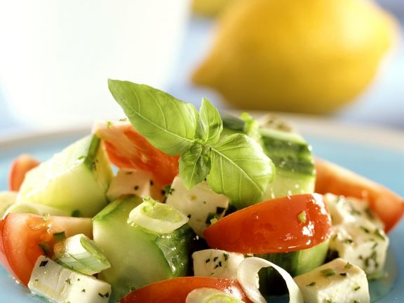Manchego Cheese with Tomatoes and Cucumber