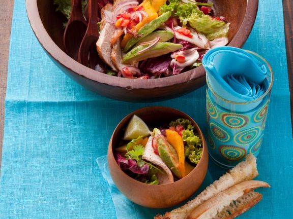 Mango and Avocado Salad with Turkey