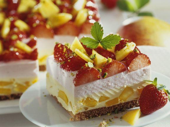 Mango and Strawberry Cream Cake
