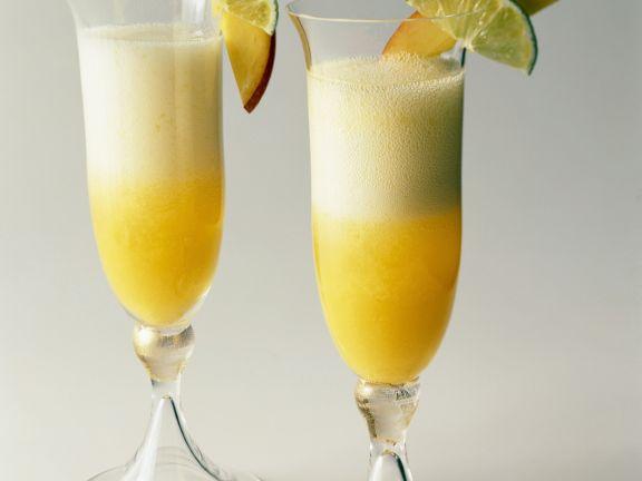Mango Champagne Cocktail