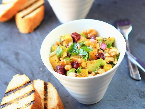 Mango Salad with Beetroot and Avocado