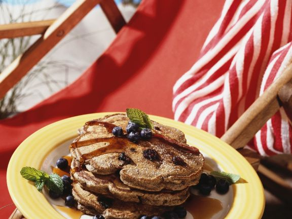Maple and Blueberry Pancakes