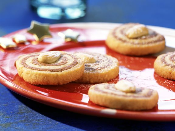 Marbled Almond Swirl Cookies