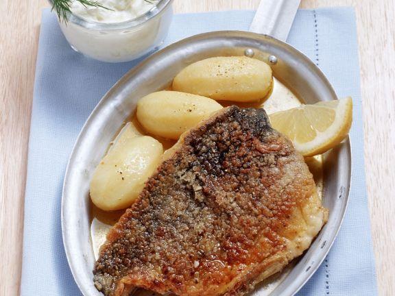 Marinated Carp Nuremberg Style with Horseradish Cream and Potatoes
