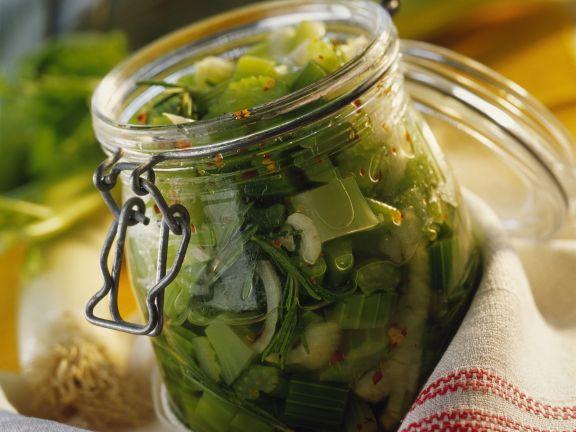 Marinated Leeks and Celery